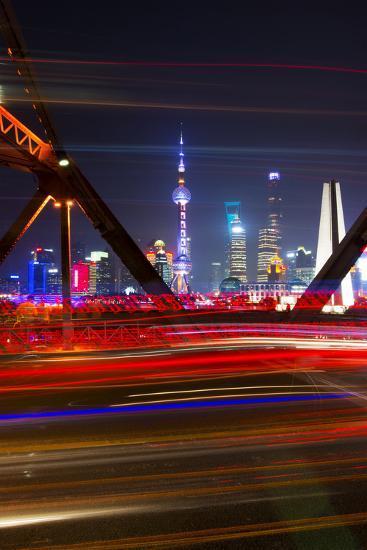 China 10MKm2 Collection - Colorful Garden Bridge - Shanghai-Philippe Hugonnard-Photographic Print