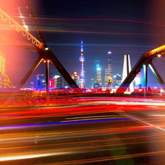 China 10MKm2 Collection - Colorful Garden Bridge - Shanghai-Philippe Hugonnard-Photographic Print