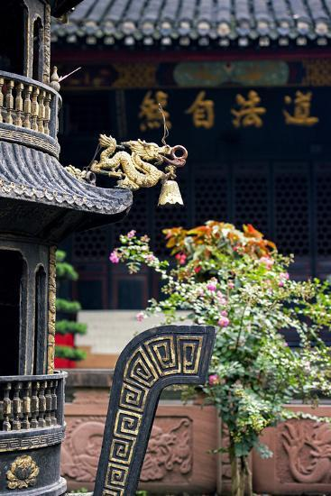 China 10MKm2 Collection - Detail of Brazier and Pagoda-Philippe Hugonnard-Photographic Print