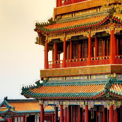 China 10MKm2 Collection - Detail of Summer Palace at sunset-Philippe Hugonnard-Photographic Print
