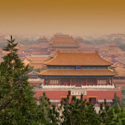 China 10MKm2 Collection - Forbidden City at sunset - Beijing-Philippe Hugonnard-Photographic Print