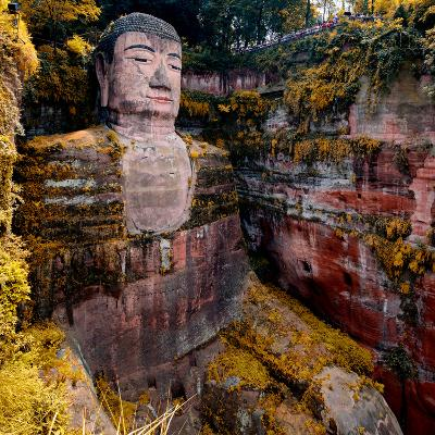 China 10MKm2 Collection - Giant Buddha of Leshan in Autumn-Philippe Hugonnard-Photographic Print