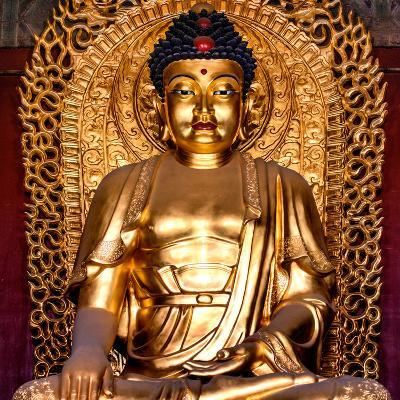 China 10MKm2 Collection - Gold Buddha-Philippe Hugonnard-Photographic Print