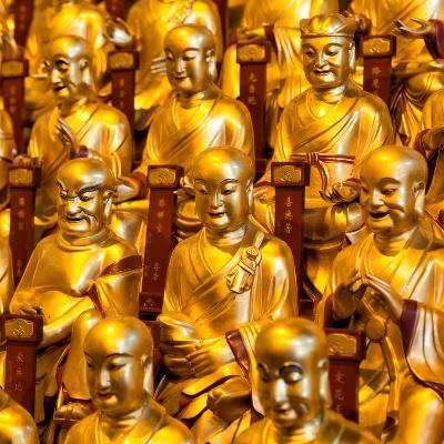 China 10MKm2 Collection - Gold Buddhist Statue in Longhua Temple-Philippe Hugonnard-Photographic Print