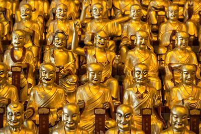 China 10MKm2 Collection - Gold Buddhist Statues in Longhua Temple-Philippe Hugonnard-Photographic Print