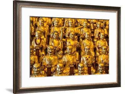 China 10MKm2 Collection - Gold Buddhist Statues in Longhua Temple-Philippe Hugonnard-Framed Photographic Print