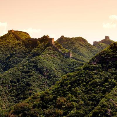 China 10MKm2 Collection - Great Wall of China - Fall Colors-Philippe Hugonnard-Photographic Print