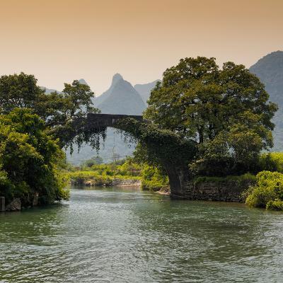 China 10MKm2 Collection - Guilin Yangshuo Bridge-Philippe Hugonnard-Photographic Print