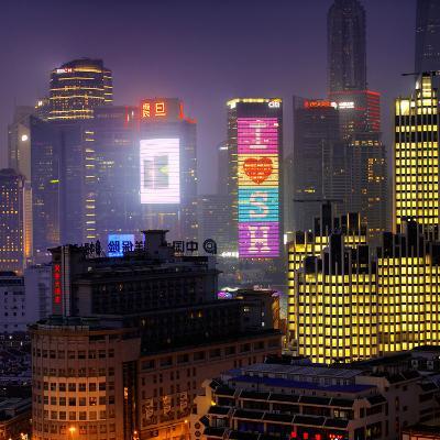 China 10MKm2 Collection - I Love Shanghai-Philippe Hugonnard-Photographic Print