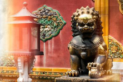 China 10MKm2 Collection - Instants Of Series - Bronze Chinese Lion-Philippe Hugonnard-Photographic Print