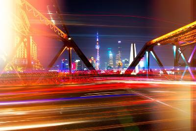China 10MKm2 Collection - Instants Of Series - Colorful Garden Bridge - Shanghai-Philippe Hugonnard-Photographic Print