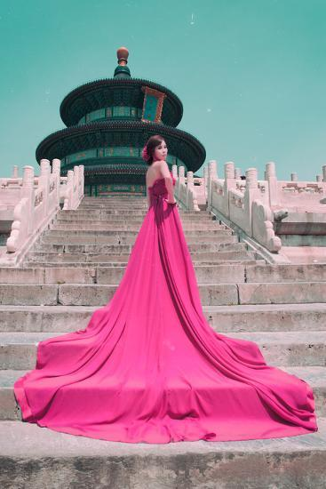 China 10MKm2 Collection - Instants Of Series - Fashion Pink-Philippe Hugonnard-Photographic Print