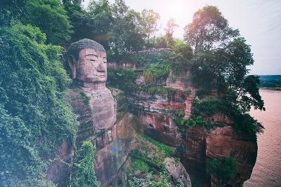China 10MKm2 Collection - Instants Of Series - Giant Buddha of Leshan-Philippe Hugonnard-Photographic Print