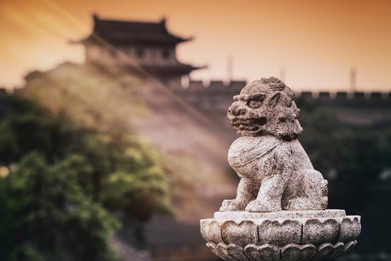 China 10MKm2 Collection - Instants Of Series - Guardian of the Temple-Philippe Hugonnard-Photographic Print