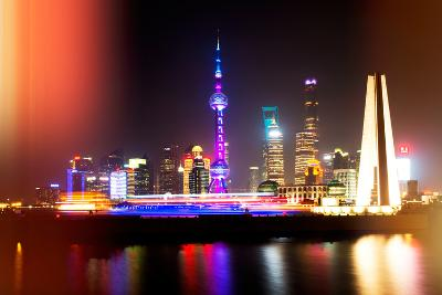China 10MKm2 Collection - Instants Of Series - Shanghai Night-Philippe Hugonnard-Photographic Print