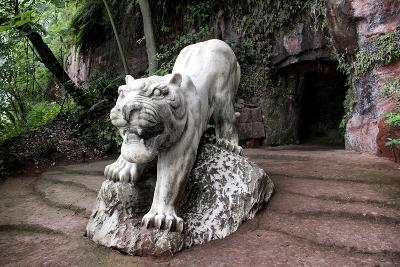 China 10MKm2 Collection - Lion - Buddhist Sculpture-Philippe Hugonnard-Photographic Print