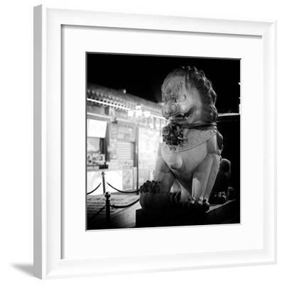 China 10MKm2 Collection - Lion Stands Guard-Philippe Hugonnard-Framed Photographic Print