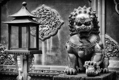 China 10MKm2 Collection - Lion Statue - Forbidden City-Philippe Hugonnard-Photographic Print