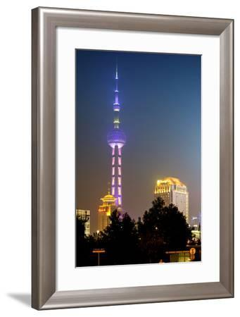 China 10MKm2 Collection - Oriental Pearl Tower at Night - Shanghai-Philippe Hugonnard-Framed Photographic Print