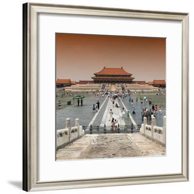 China 10MKm2 Collection - Palace Area of the Forbidden City-Philippe Hugonnard-Framed Photographic Print
