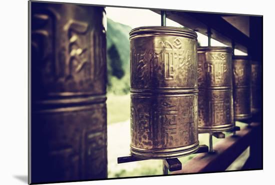 China 10MKm2 Collection - Prayer Wheels-Philippe Hugonnard-Mounted Premium Photographic Print
