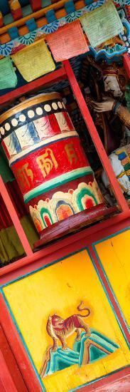 China 10MKm2 Collection - Prayer Wheels-Philippe Hugonnard-Photographic Print