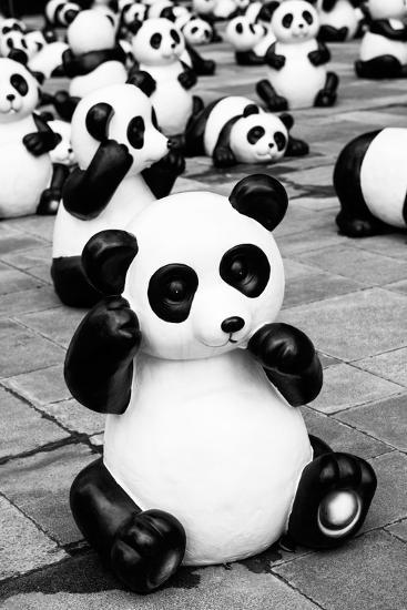 China 10MKm2 Collection - Psychedelic Pandas-Philippe Hugonnard-Photographic Print