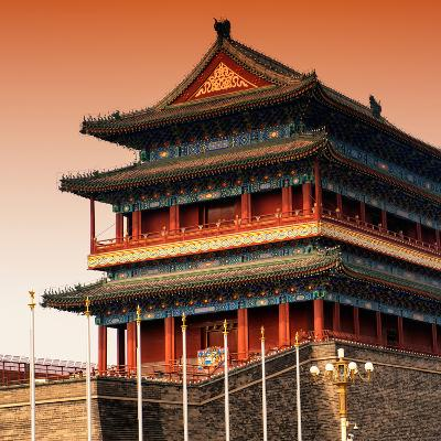 China 10MKm2 Collection - Qianmen Temple-Philippe Hugonnard-Photographic Print
