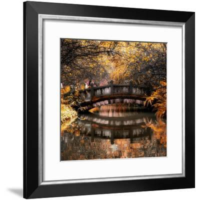 China 10MKm2 Collection - Romantic Bridge in Autumn-Philippe Hugonnard-Framed Photographic Print