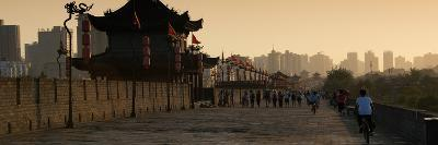 China 10MKm2 Collection - Shadows of the City Walls at sunset - Xi'an City-Philippe Hugonnard-Photographic Print