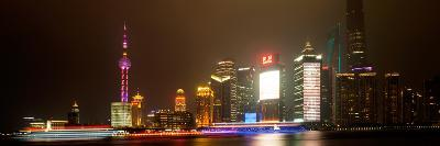 China 10MKm2 Collection - Shanghai Cityscape at night-Philippe Hugonnard-Photographic Print