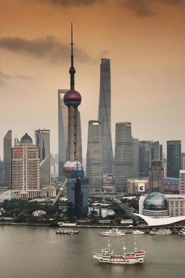 China 10MKm2 Collection - Shanghai Skyline with Oriental Pearl Tower-Philippe Hugonnard-Photographic Print