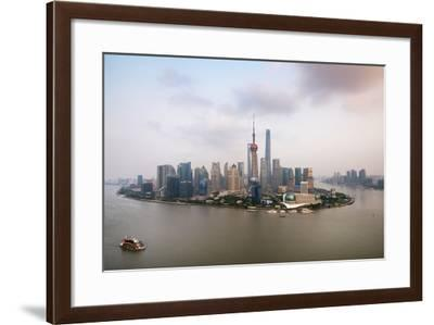 China 10MKm2 Collection - Shanghai Skyline with Oriental Pearl Tower-Philippe Hugonnard-Framed Photographic Print
