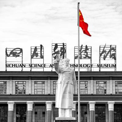 China 10MKm2 Collection - Statue of Mao Zedong-Philippe Hugonnard-Photographic Print
