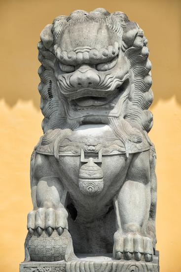 China 10MKm2 Collection - Stone Lion Statue-Philippe Hugonnard-Photographic Print
