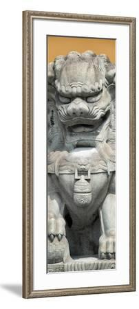 China 10MKm2 Collection - Stone Lion Statue-Philippe Hugonnard-Framed Photographic Print