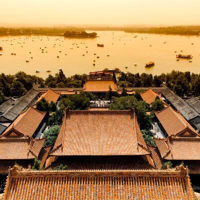 China 10MKm2 Collection - Summer Palace and Lotus Lake-Philippe Hugonnard-Photographic Print