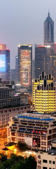 China 10MKm2 Collection - The Bund at Night - Shanghai-Philippe Hugonnard-Photographic Print