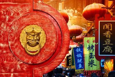 China 10MKm2 Collection - The Door God - Beijing-Philippe Hugonnard-Photographic Print