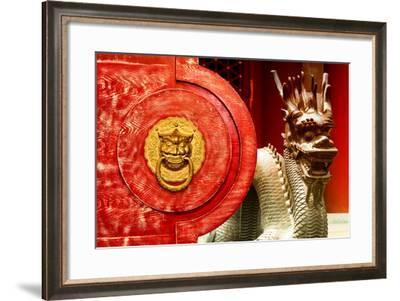 China 10MKm2 Collection - The Door God - Dragon-Philippe Hugonnard-Framed Photographic Print