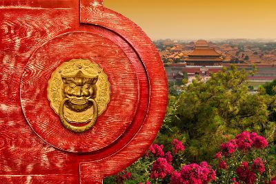 China 10MKm2 Collection - The Door God - Forbidden City-Philippe Hugonnard-Photographic Print