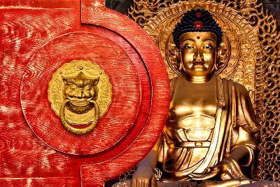 China 10MKm2 Collection - The Door God - Gold Buddha-Philippe Hugonnard-Photographic Print