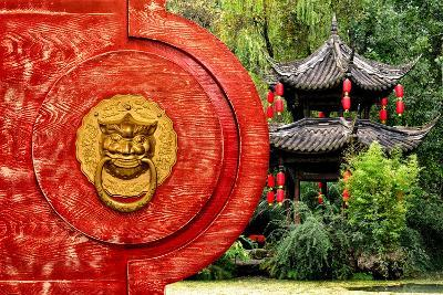 China 10MKm2 Collection - The Door God - Green Temple-Philippe Hugonnard-Photographic Print