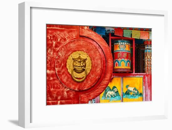 China 10MKm2 Collection - The Door God - Prayer Wheel-Philippe Hugonnard-Framed Photographic Print