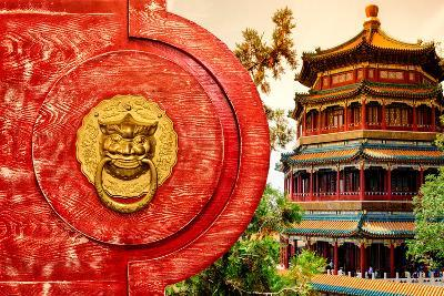 China 10MKm2 Collection - The Door God - Summer Palace-Philippe Hugonnard-Photographic Print