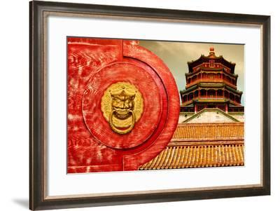 China 10MKm2 Collection - The Door God - The Summer Palace Beijing-Philippe Hugonnard-Framed Photographic Print