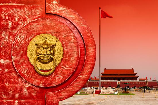 China 10MKm2 Collection - The Door God - Tiananmen Square-Philippe Hugonnard-Photographic Print