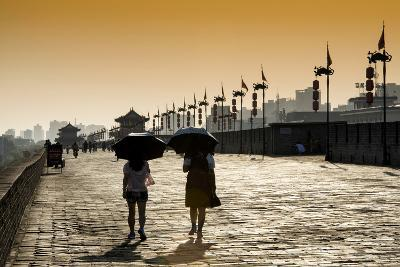 China 10MKm2 Collection - Walk on the City Walls at sunset - Xi'an City-Philippe Hugonnard-Photographic Print