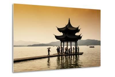 China 10MKm2 Collection - Water Pavilion at sunset-Philippe Hugonnard-Metal Print