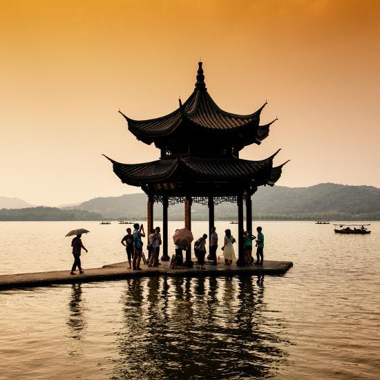 China 10MKm2 Collection - Water Pavilion at sunset-Philippe Hugonnard-Photographic Print